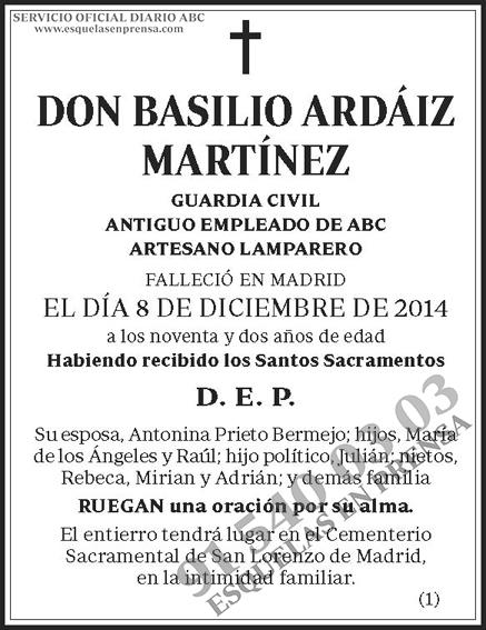Basilio Ardáiz Martínez